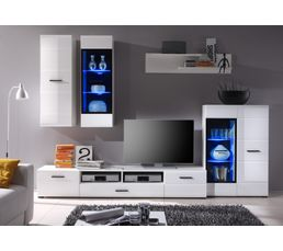 Mur TV LED BLOCK Blanc