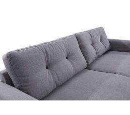 Canapé 3 places scandinave Tissu gris clair STOCKHOLM