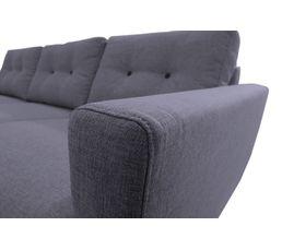 Canapé d'angle droit scandinave tissu gris anthracite STOCKHOLM
