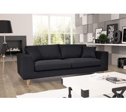 Canap 3 places bilbo tissu gris anthracite canap s but - Canape cuir gris anthracite ...