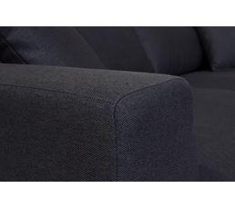 Canapé 3 places BILBO Tissu gris anthracite
