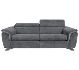 Canap convertible 3 places pacyfic tissu gris canap s but - But canape convertible ...