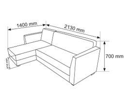 Canapé d'angle réversible PIXX Gris Anthracite
