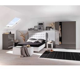 lit 140x190 cm japp blanc lits but. Black Bedroom Furniture Sets. Home Design Ideas
