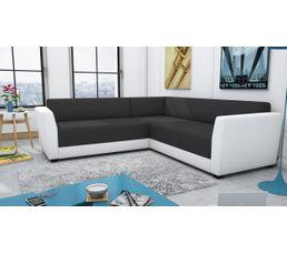 Canapé d'angle panoramique PIXX Gris/blanc