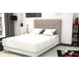 t te de lit pu cm carr taupe t tes de lit but. Black Bedroom Furniture Sets. Home Design Ideas