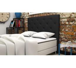 Tête de lit PU L.145 cm CLISS NOIR