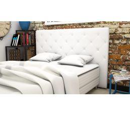 T�tes De Lit - Tête de lit PU L.185 cm CLISS BLANC