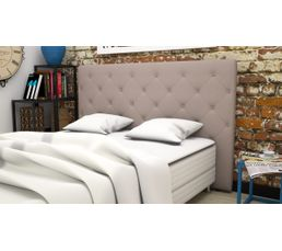 t te de lit pu cm cliss taupe t tes de lit but. Black Bedroom Furniture Sets. Home Design Ideas