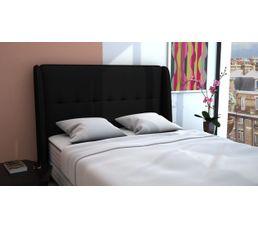 t te de lit pu cm cocooning noir t tes de lit but. Black Bedroom Furniture Sets. Home Design Ideas