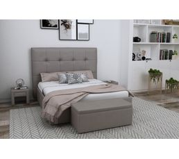 Tête de lit PU L.200 cm DREAM/HOME TAUPE