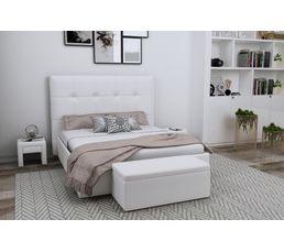 Tête de lit PU L.200 cm DREAM/HOME BLANC