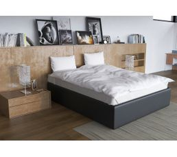 cadre de lit 140x190 cm dream pu noir lits but. Black Bedroom Furniture Sets. Home Design Ideas