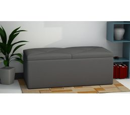 banc coffre de rangement syla gris poufs poires but. Black Bedroom Furniture Sets. Home Design Ideas