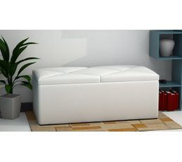 banc coffre de rangement syla blanc poufs poires but. Black Bedroom Furniture Sets. Home Design Ideas
