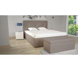 lit coffre 160x200 cm syla pu taupe lits but. Black Bedroom Furniture Sets. Home Design Ideas