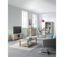 Table basse nordi ch ne blanchi tables basses but - Table basse chene blanchi ...