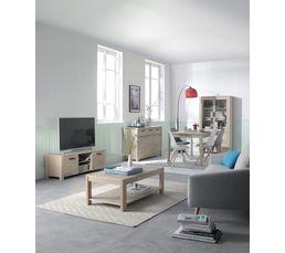 Meuble TV NORDI Chêne blanchi