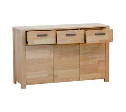Buffet 3 portes 3 tiroirs NORDI Chêne blanchi
