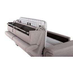 Canapé convertible 3 places ASHFORD Tissu Gris