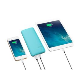 PLURIDEA Batterie de secours 6600 mAh Powerbank Bleu