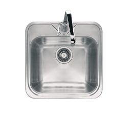 Eviers - Cuve carrée QUADRA QUL610 / Inox Dekor®