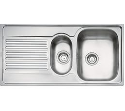 Evier 1 bac 1 2 gouttoir galileo gox651 inox eviers but - Bac bassin rectangulaire creteil ...