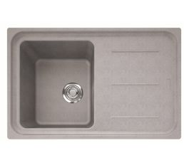 Evier 1 bac + 1 égouttoir IMPACT IMG611-78 / Platinum