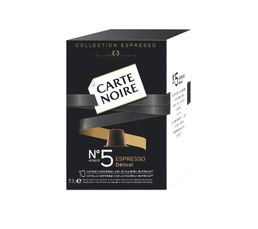 Paquet de 10 capsules CARTE NOIRE Caf� n�5 D�licat