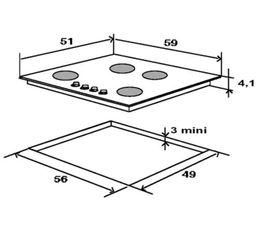 Table gaz WHIRLPOOL AKM515NB/01