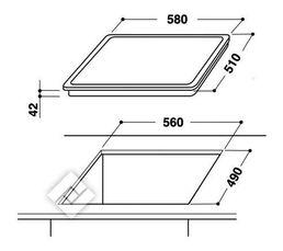 Table vitrocéramique WHIRLPOOL AKT8090NE