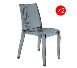 Chaises - Chaise ONDULO Gris fumé