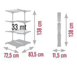 Etendoir tour MELICONI Stendimeglio quadri cyan 33m