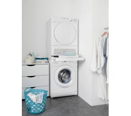 Accessoire s chage wpro kit superposition filet sks170 - Meuble superposition lave linge seche linge ...