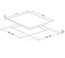 Table gaz SMEG PV164S