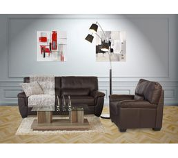 canap 3 places palio cuir cro te cuir chocolat canap s but. Black Bedroom Furniture Sets. Home Design Ideas
