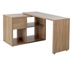 Bureau d angle bois inspiration en bois for Meuble d angle ordinateur