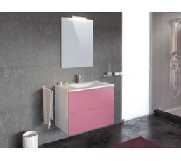 ensemble de salle de bain 80cm tahiti rose meuble de salle de bain but. Black Bedroom Furniture Sets. Home Design Ideas