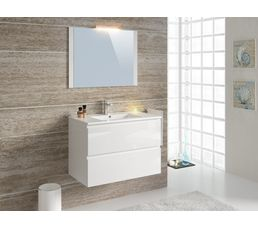 Meubles de salle de bain 80cm FIDJI Blanc