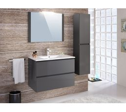 ensemble de salle de bain 80cm fidji gris anthracite meuble de salle de bain but. Black Bedroom Furniture Sets. Home Design Ideas