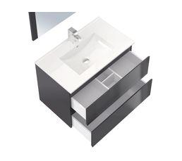 Ensemble de salle de bain 80cm FIDJI Gris anthracite