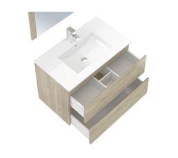 Ensemble de salle de bain 80cm FIDJI Chêne