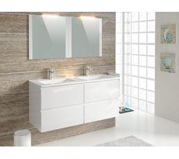 Meuble De Salle De Bain - Ensemble de salle de bain 120 cm FIDJI Blanc