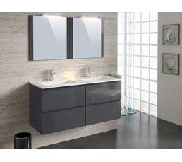 Meubles de salle de bain 120 cm FIDJI Gris anthracite