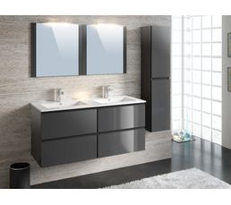 meubles de salle de bain 120 cm fidji gris anthracite. Black Bedroom Furniture Sets. Home Design Ideas