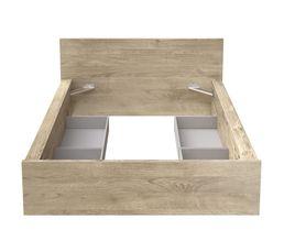 Lit 140x190 cm avec tiroirs DORMA Chêne