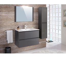 Colonne salle de bain à suspendre FIDJI gris anthracite