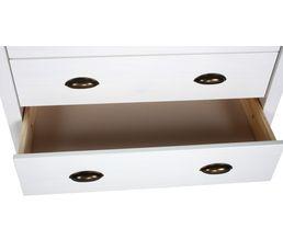 Commode 5 tiroirs JOYCE blanc