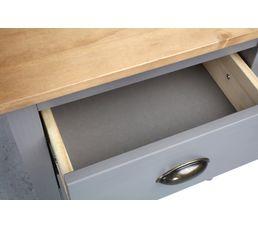 Chevet 2 tiroirs JOYCE gris