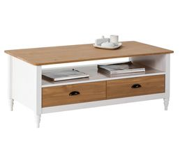 Table basse IRYNA Blanc et bois